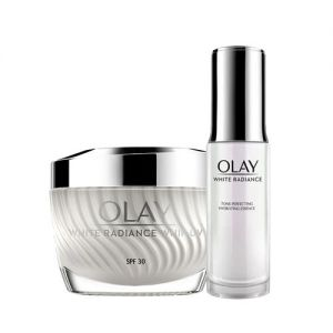 Olay White Radiance Summer Combo for Brightening With SPF30 (Summer Moisturizer + Essence)