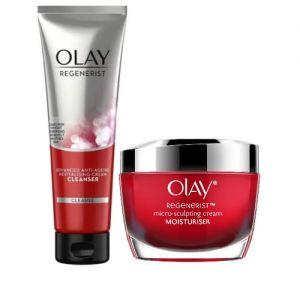 Olay Regenerist Daily Skincare Regimen (Cleanser + Moisturizer)