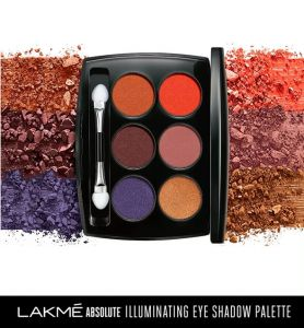 lakme absolute illuminating eye shadow palette french rose