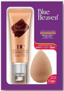Blue heaven high coverage foundation with primer