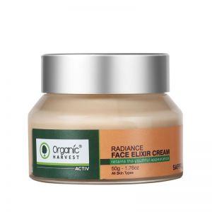 Organic Harvest Active Saffron Radiance Face Elixir Cream