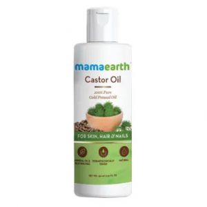 Mamaearth Castor Oil 100% Pure Cold Pressed For Skin, Hair & Nails