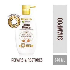 Garnier Ultra Blends Intense Repair Shampoo Soy Milk & Almond