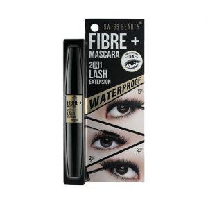 Swiss Beauty Fibre Mascara + 2 in 1 Lash Extension