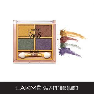 lakme 9to5 eye color quartet eye shadow - tanjore rush
