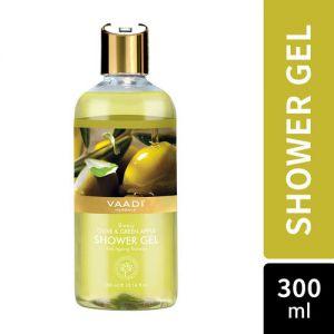 Vaadi Herbals Breezy Olive & Green Apple Shower Gel