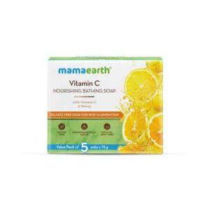 Mamaearth Vitamin C Nourishing Bathing Soap With Vitamin C And Honey For Skin Illumination