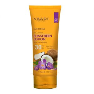 Vaadi Herbals Sunshield Tan Control Sunscreen Lotion With Lilac Extract Spf 30