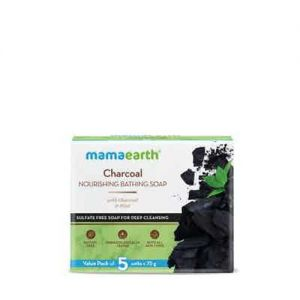 Mamaearth Charcoal Nourishing Bathing Soap With Charcoal And Mint For Deep Cleansing