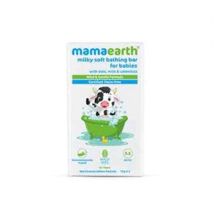 Mamaearth Milky Soft Bathing Bar For Babies With Oats, Milk & Calendula - pack of 2