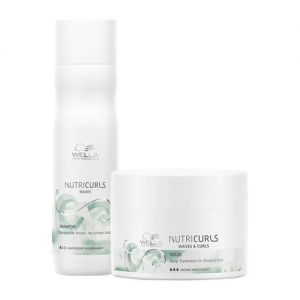 Wella Professionals NUTRICURLS Deep Treatment Mask & Sulphate Free Shampoo Combo